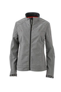 Ladies Softshell Jacket James & Nicholson - light melange
