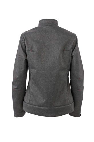 Ladies Softshell Jacket James & Nicholson - Rückenansicht