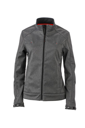 Ladies Softshell Jacket James & Nicholson - dark melange