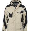 Craftsmen Softshell Jacket - stone/black James & Nicholson