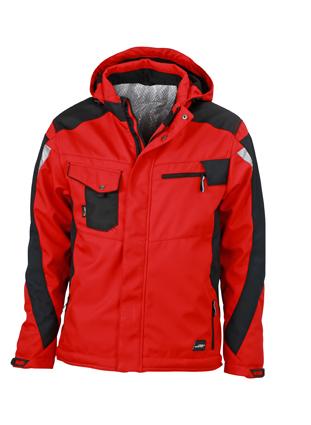Craftsmen Softshell Jacket James & Nicholson - red/black