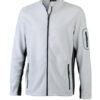 Mens Workwear Fleece Jacket James & Nicholson - white/carbon