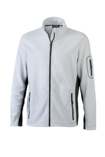 Mens Workwear Fleece Jacket James & Nicholson - white/carbon