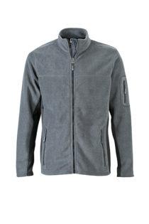 Mens Workwear Fleece Jacket James & Nicholson - black/carbon