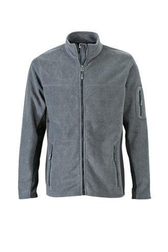 Mens Workwear Fleece Jacket James & Nicholson - carbon/black