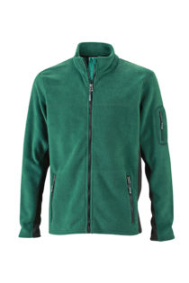 Mens Workwear Fleece Jacket James & Nicholson - dark green/black
