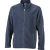Mens Workwear Fleece Jacket James & Nicholson - navy/navy