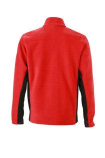 Mens Workwear Fleece Jacket James & Nicholson - Rückenansicht