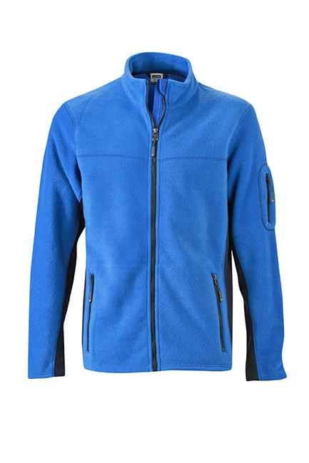 Mens Workwear Fleece Jacket James & Nicholson - royal/navy