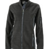 Ladies Workwear Fleece Jacket James & Nicholson - black/carbon