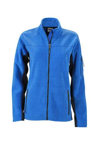 Ladies Workwear Fleece Jacket James & Nicholson - royal/navy