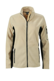 Ladies Workwear Fleece Jacket James & Nicholson - stone/black
