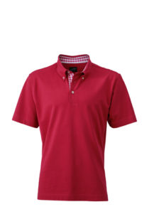 Mens Plain Polo James & Nicholson - purple/purple white