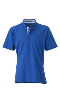 Mens Plain Polo James & Nicholson - royal/blue green white