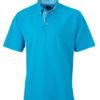 Mens Plain Polo James & Nicholson - turquoise/turquoise white