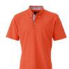 Mens Plain Polo James & Nicholson - dark orangeblue orange white