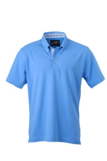 Mens Plain Polo James & Nicholson - glacier blueglacier blue white