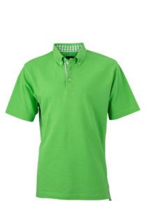 Mens Plain Polo James & Nicholson - lime greenlime green white