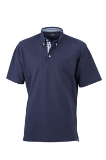 Mens Plain Polo James & Nicholson - navy/navy white