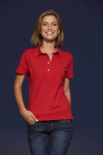 Ladies Plain Polo James & Nicholson - red/red white