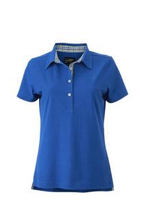 Ladies Plain Polo James & Nicholson - royal/blue green white