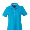 Ladies Plain Polo James & Nicholson - turquoise/turquoise white