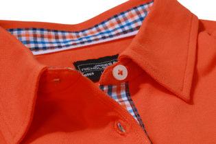 Ladies Plain Polo James & Nicholson - dark orange/blue orange white
