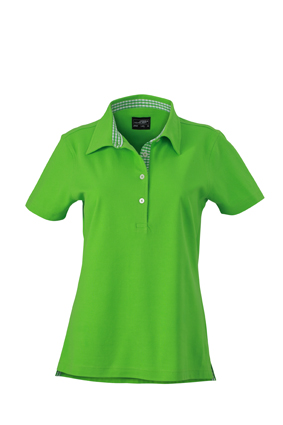 Ladies Plain Polo James & Nicholson - lime green/lime greenwhite