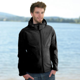 Hooded Softshell Men B&C