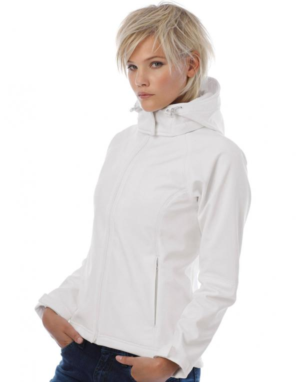 Ladies Hooded Softshell B&C
