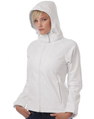 Ladies Hooded Softshell B&C - Kapuzeabnehmbar
