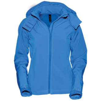 Ladies Hooded Softshell B&C - azur