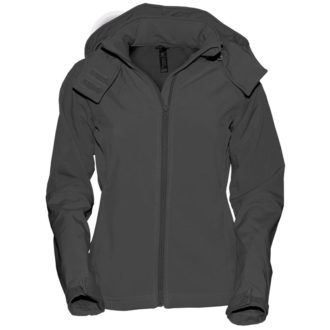 Ladies Hooded Softshell B&C - dark grey
