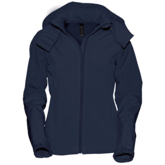 Ladies Hooded Softshell B&C - navy