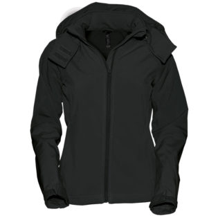 Ladies Hooded Softshell B&C - schwarz