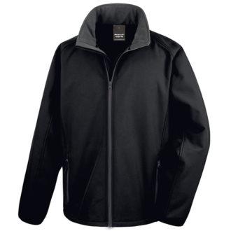 Bedruckbare Soft Shell Jacke Result - black/black