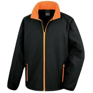 Bedruckbare Soft Shell Jacke Result - black/orange