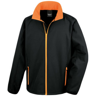 Bedruckbare Soft Shell Jacke Result - black/orange