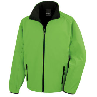 Bedruckbare Soft Shell Jacke Result -green/black