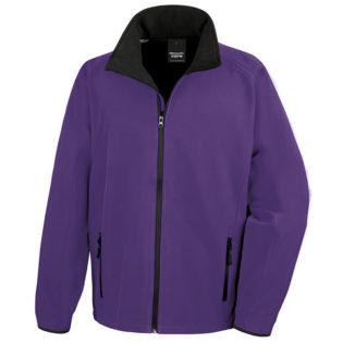 Bedruckbare Soft Shell Jacke Result - purple/black