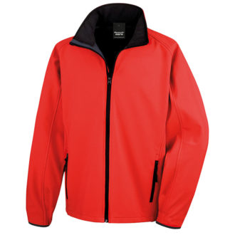 Bedruckbare Soft Shell Jacke Result - red/black