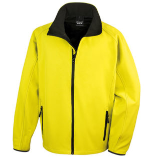 Bedruckbare Soft Shell Jacke Result - yellow/black