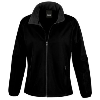 Bedruckbare Damen Soft Shell Jacke Result - black/black