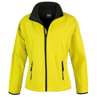 Bedruckbare Damen Soft Shell Jacke Result - yellow/black