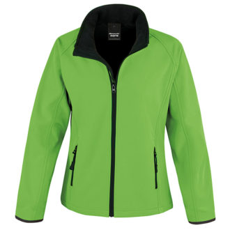 Bedruckbare Damen Soft Shell Jacke Result - vivid green/black
