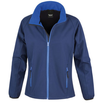 Bedruckbare Damen Soft Shell Jacke Result - navy/royal