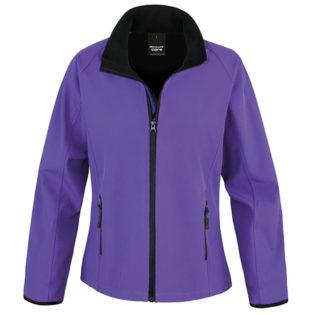 Bedruckbare Damen Soft Shell Jacke Result - purple/black