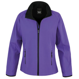Bedruckbare Damen Soft Shell Jacke Result - purple/black
