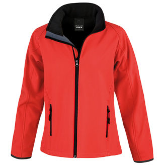 Bedruckbare Damen Soft Shell Jacke Result - red/black