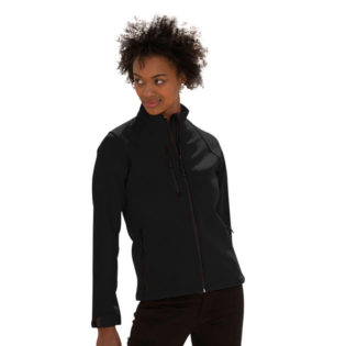 Ladies Soft Shell Jacket Russel - black